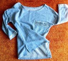 NEU Damen Pullover Glitzer Design Gr.S in hell Grau