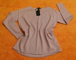 Apanage Pull tricoté mauve coton