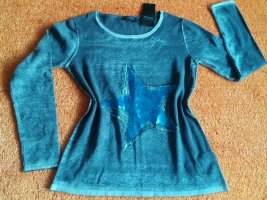 NEU Damen Pullover Pailletten Verzehr Gr.38 in Grau von Apanage P.99,95€