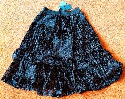 Midi Skirt black polyester