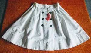 NEU Damen Rock Leinen Vintage Gr.42 in Weiß von Lisa Campione