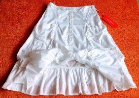 NEU Damen Rock Sommer lagenlook Gr.38 in Weiß von Lisa Campione