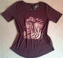 Clarina Print Shirt gold-colored-brown viscose