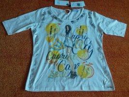 NEU Damen Shirt silber verzehrt Gr.38 in Wollweiß/Bunt P.59,95€