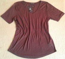 Clarina Boatneck Shirt dark brown-brown viscose