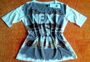 Lisa Campione Print Shirt dark brown-natural white cotton