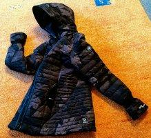 Khujo Kurtka z kapturem czarny-ciemnobrązowy Poliester