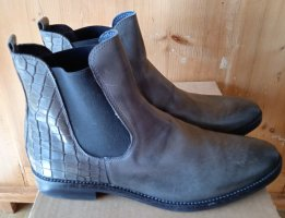NEU - DARLING HARBOUR, Chelsea Boots, 41, Leder, Grau, Kroko, NP 129€, STYLISH