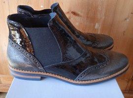 NEU - DARLING HARBOUR, Chelsea Boots, 41, Leder, Schwarz Braun, NP 129€, STYLISH