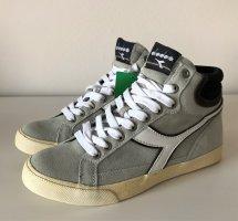 NEU Diadora Condor FL Sneaker 38 White Brown Leder Hi Top Freizeit Schuhe Boots