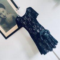 Diane von Fürstenberg Vestido de encaje negro