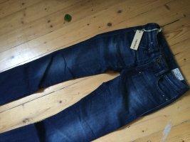 Diesel Jeansy z prostymi nogawkami ciemnoniebieski-niebieski