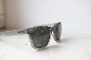 Dragon Kwadratowe okulary przeciwsłoneczne czarny-antracyt