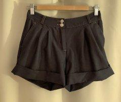 Neu elegante Sommer Strand Shorts kurze Hose aus Viskose 34 XS Navy Blue
