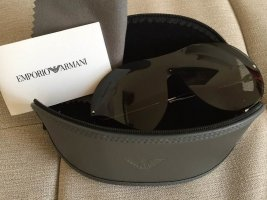 Emporio Armani Ovale zonnebril zwart-zilver