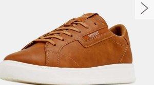 Neu Esprit Sneaker in Leder Optik farbe Braun Gr 37