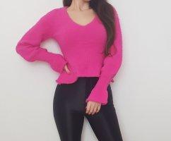 NEU Fashion Nova Pink Rosa Pullover Sweater Oberteil Sexy Elegant Schick Knitwear Knit