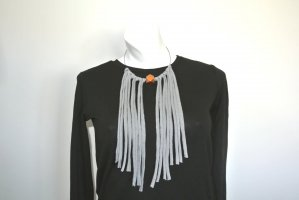Necklace grey-bronze-colored