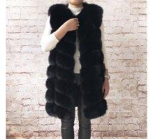 Deluxe Furs Gilet en fourrure noir fourrure