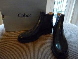 NEU GABOR Lack Stiefelette  Chelsea Boots schwarz Gr. 40