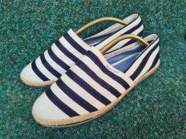 Neu GANT Gina Stripe G91 Gr. 38 Slipper leichte Schuhe Stoffschuhe dunkelblau weiß gestreift
