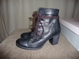 Neu Gold Marie Layer Lace Boot Black Leather Gr. 39
