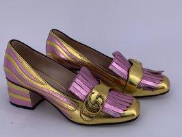 Gucci Chaussure décontractée rose-doré