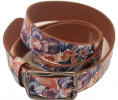 NEU: Gürtel aus echtem Leder mit Floralmuster