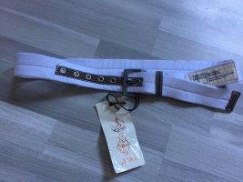 Scotch & Soda Cinturón de tela blanco