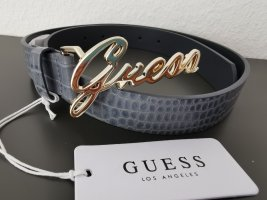 Guess Faux Leather Belt slate-gray