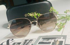 Guess Okulary motylki złoto