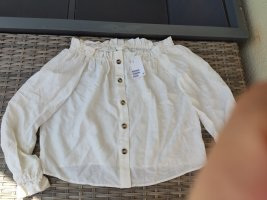 Neu H&M Bluse Carmenbluse creme Gr.XS