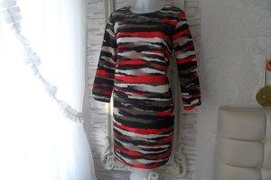 Neu. H&M Kleid Gr. 38/ 40 Grün / Rot/ weiß