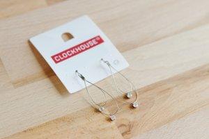 NEU Hänge-Ohrringe mit Strass tropfenförmig