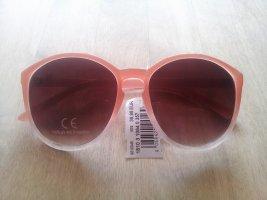 Hallhuber Owalne okulary przeciwsłoneczne w kolorze różowego złota-nude