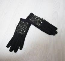 Guantes con dedos negro-blanco
