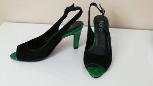 Neu Heine Leder Pumps Sandalette Schuhe Elegant Gr 35