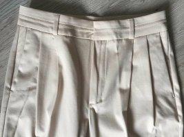 Massimo Dutti High Waist Trousers oatmeal cotton