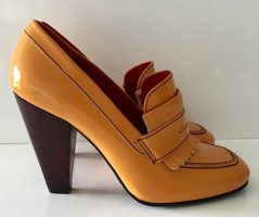 NEU HILFIGER COLLECTION PUMPS GR. 37 ORANGE LACKLEDER
