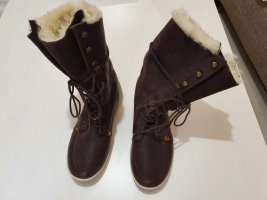 Hub Fur Boots brown-sand brown leather