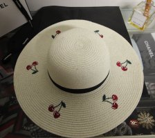 Sun Hat cream-red