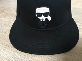 Karl Lagerfeld Baseball Cap black-white cotton