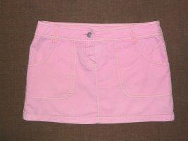 NEU Jeans Minirock kurzer Rock 34 36 S Rosa Baumwolle Denim