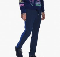 NEU Kenzo NP 295€ Baumwolle Elasthan Trousers Hose Jogginghose marine blau Größe 50 98 102 M