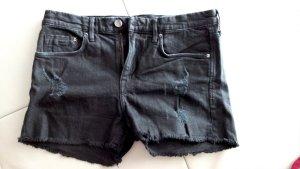 NEU, Kurze schwarze Jeans Shorts, Gr. 36