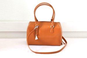 NEU! L.Credi Handtasche Echtleder Aktenkoffer-Style braun mit Umhänge-Gurt