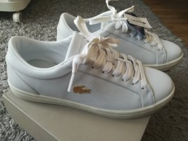 ! NEU ! Lacoste Damen Straightset Leder Sneaker weiß Größe 39,5