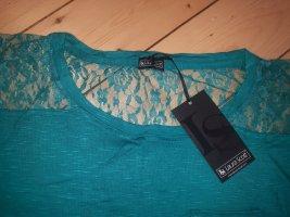 NEU! Laura Scott Gr.36/38 Shirt Spitze türkis Oversize Pullover