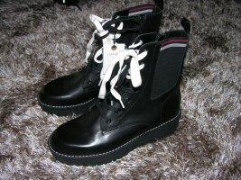 NEU❗Zara kids Stiefel Stiefeletten Boots mit Fell schwarz gr.35