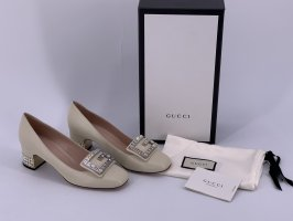 Gucci Loafers natural white-oatmeal